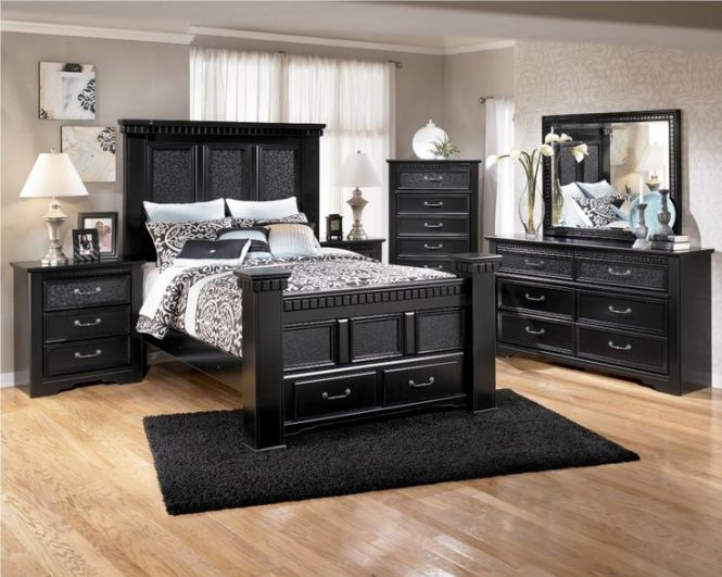 Master Bedroom Ideas Black Furniture In The Luxury Room At