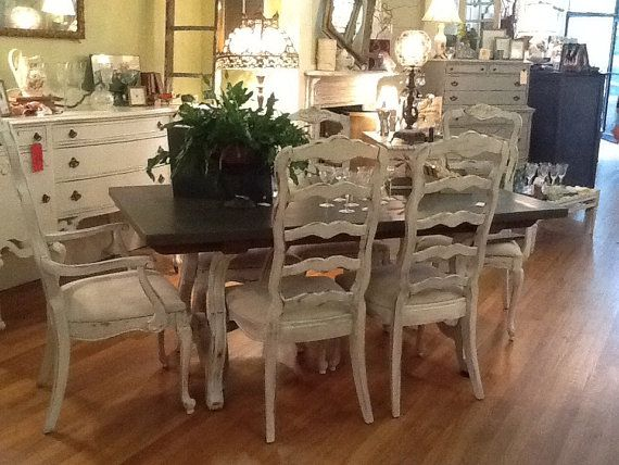 french country farm table and chairs space saver high chair tray chalk painted dinning sets | stunning cottage dining set by tesshome ...