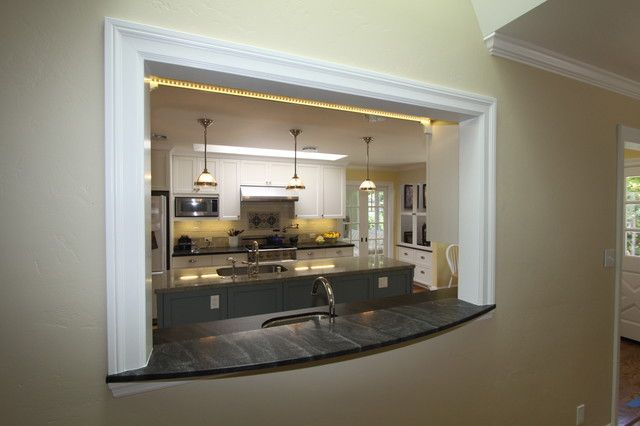 small kitchens with pass throughs  traditional kitchen