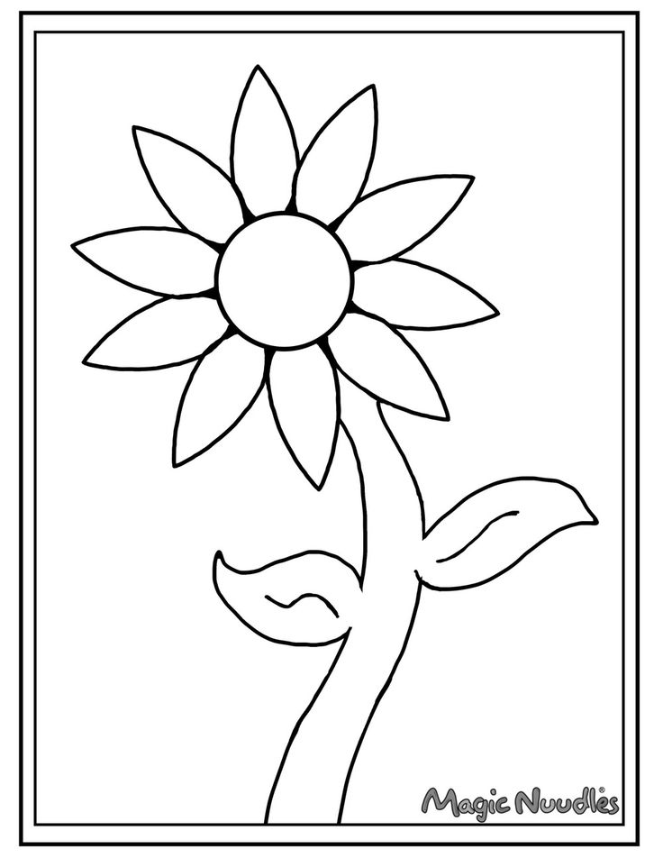 Daisy Magic Nuudle Coloring Page! printable version! 3d