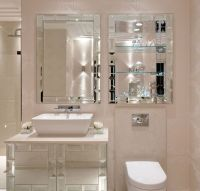 Luxe Designer Tiffany Mirror Bathroom Vanity Set, sharing
