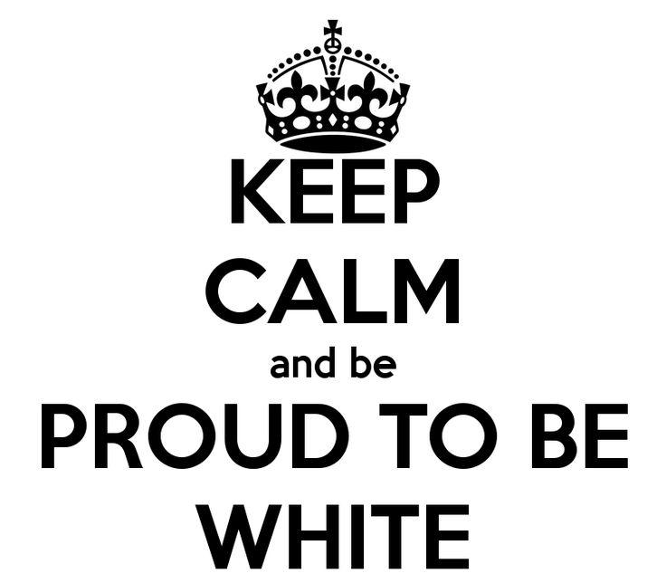 It's ok to be proud to be white it's not being hateful. It