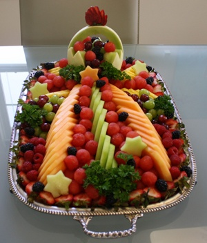 10 Images About Watermelon Carvings And Fruit Displays On