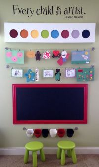 "KIDS PLAYROOM CHALKBOARD For Sale 53""x29"" Huge Magnetic ..."