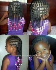 cute cornrows box braids and beads