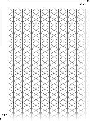 Alvin Isometric Paper Pad, 8.5
