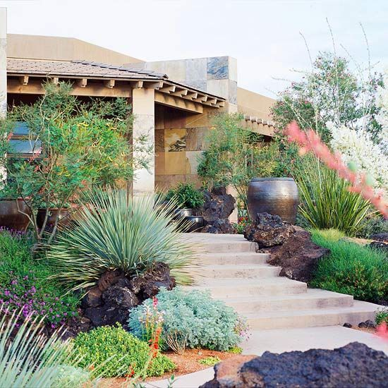 Front Yard Landscaping Ideas Arizona Desert Pots