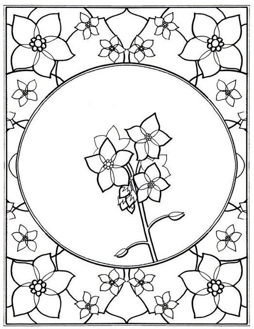 Bunch Of Tulip Coloring Page
