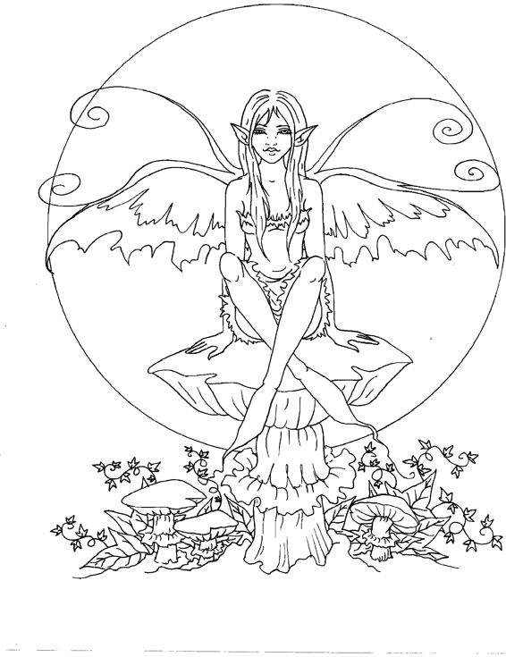 20 Dark Fairy Coloring Pages Cute Ideas And Designs