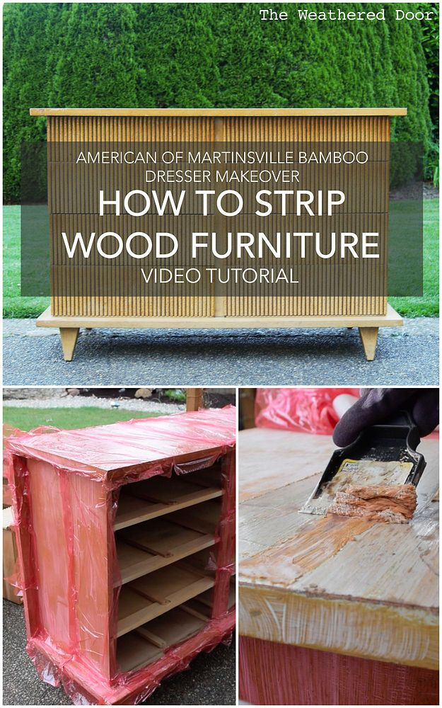 How To Strip Painted Or Stained Wood Furniture DIY Video