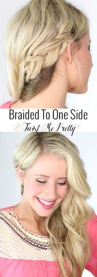 1000+ ideas about One Sided Braid on Pinterest | Hair ...