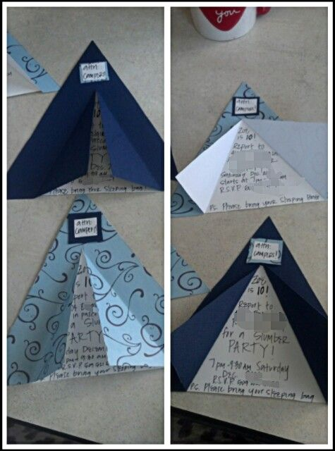 Tent invitations camping themed Birthday party  I love