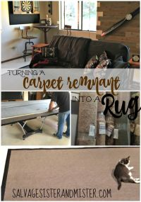 DIY Carpet Remnant into Area Rug | Carpet remnants and ...