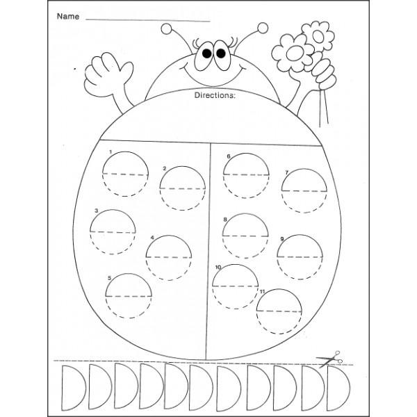 FREE customizable ladybug math activity sheet. Draw dots