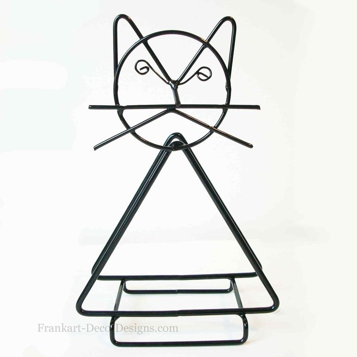 Eames-style Cat steel wire napkin or letter holder c1970
