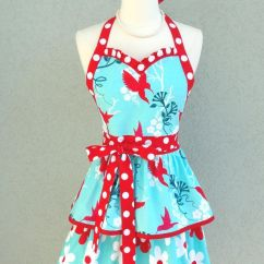 Cute Kitchen Aprons Different Color Cabinets Pdf Apron Pattern.....flirty Sweetheart Double Ruffled ...