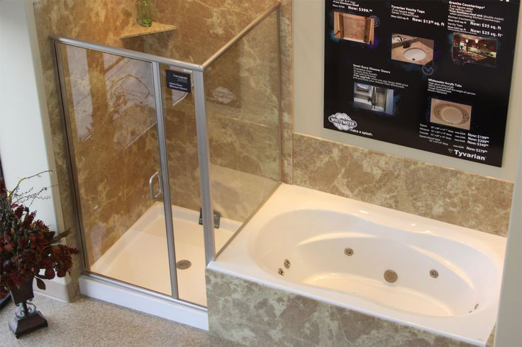 Garden Tub And Shower Combo Amp Shower Bases 0005