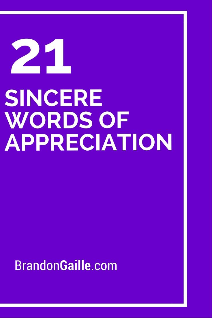 21 Sincere Words Of Appreciation Words And Words Of Appreciation