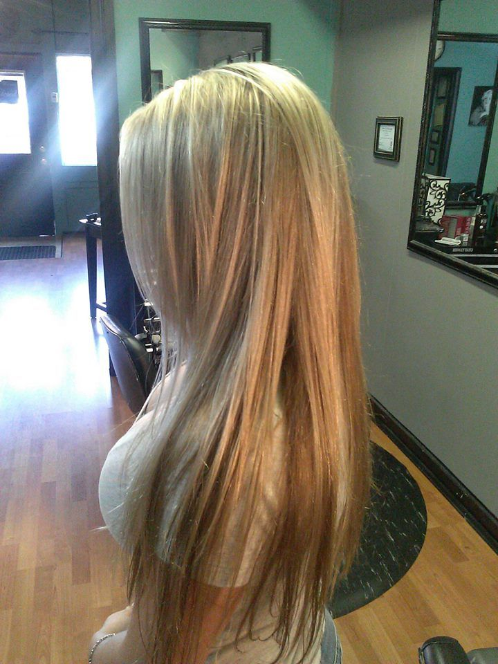 Long 3 Shades Of Blonde Hair Long With Layers And Long