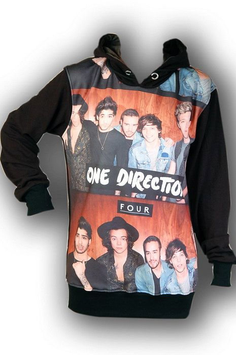 One Direction 1D Boyband Punk Rock Hoodie Jacket by