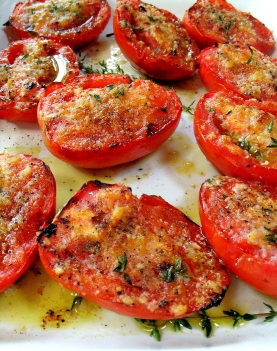 These Garlic Grilled Tomatoes sound amazing and would pair perfectly with our Sonoma Grill Steaks!