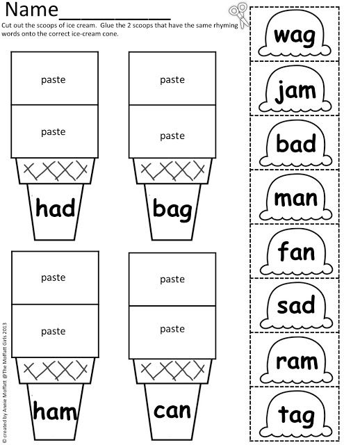 Free Printable Cut And Paste Worksheets For First Grade