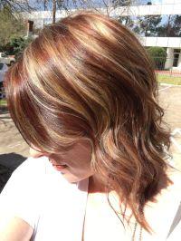 Burnt Sienna Hair With Caramel Highlights Dark Brown Hairs ...