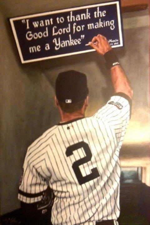 Ny Yankees Girls Wallpaper Derek Jeter We Thank God For Making You A Yankee Too