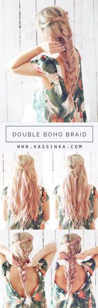 Double Boho Braid Hair Tutorial (Kassinka) - Hair Styles