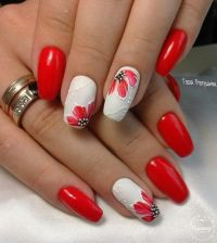 25+ best ideas about Red nail art on Pinterest   Red black ...