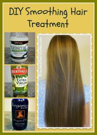 DIY smoothing hair treatment recipe and tutorial. Coconut ...