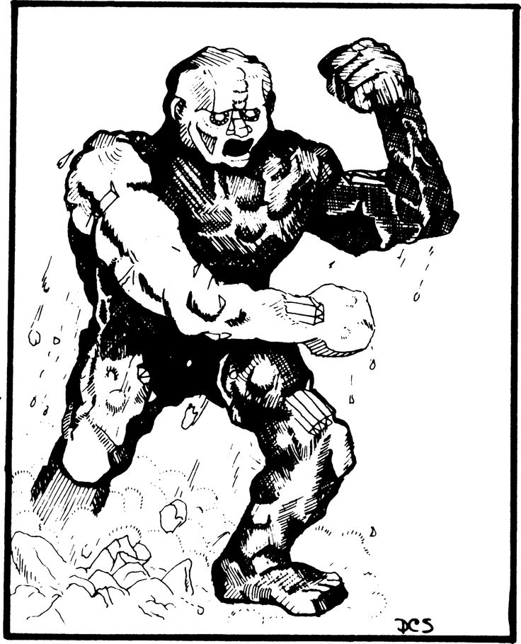 Elemental, Earth (from the 1st Edition Monster Manual