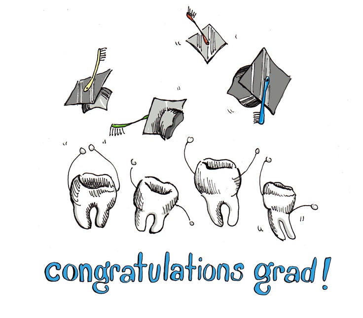 Custom Illustrated Note Cards Congratulations Grad by