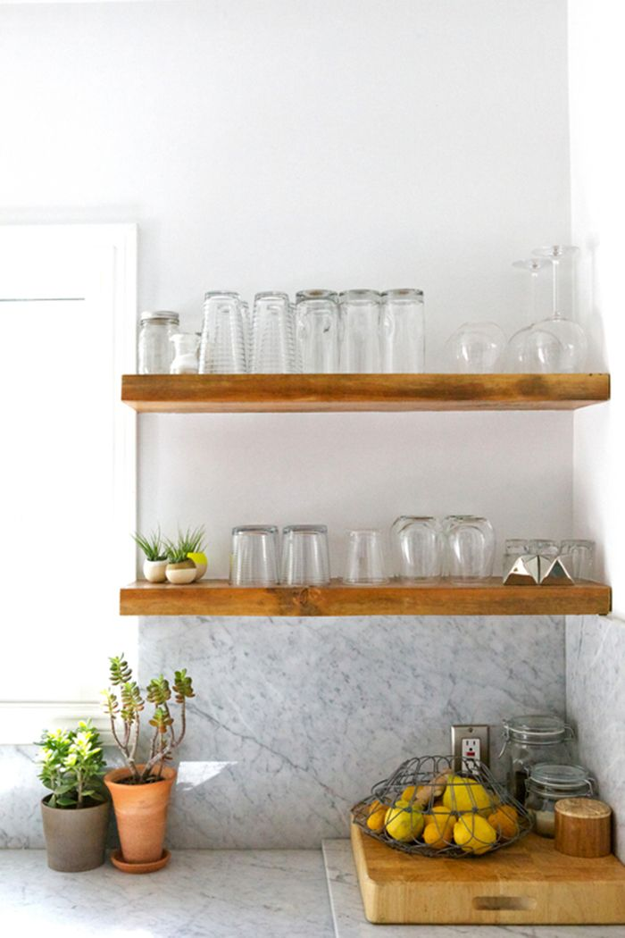Open Shelving in the Kitchen How to Make it Work  Open