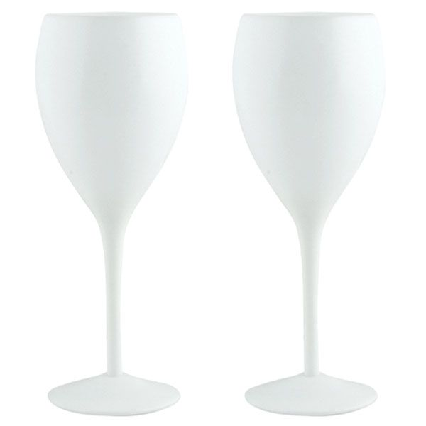 Funky Glassware Solid White Wine Glasses - Set Of 4 | Products & Gadgets