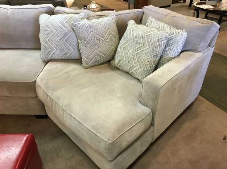 Sectional couch with a cuddler chaise by Jonathan Louis