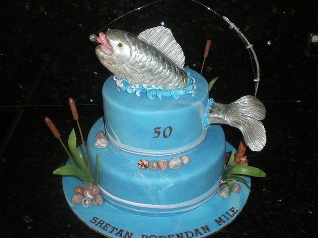 50th Birthday Cakes For Men Fishing Find The Idea Of