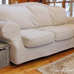 Reupholster Leather Sofa Diy Slate Grey Living Room Decor Carolina Country Living: Drop Cloth Slipcover ...