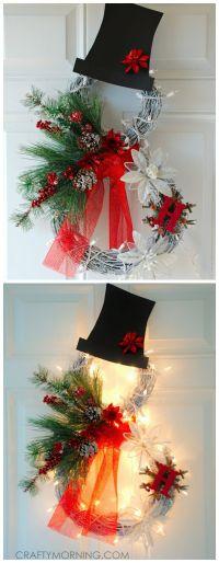 Best 25+ Snowman wreath ideas on Pinterest | Diy door ...