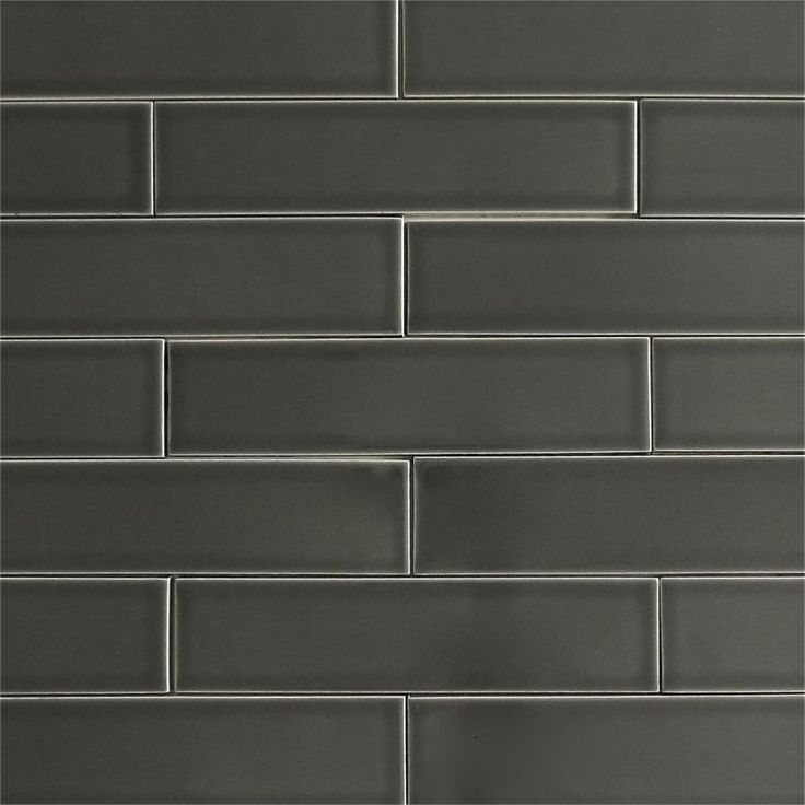 modwalls USA made 2x8 ceramic subway tile in gray color