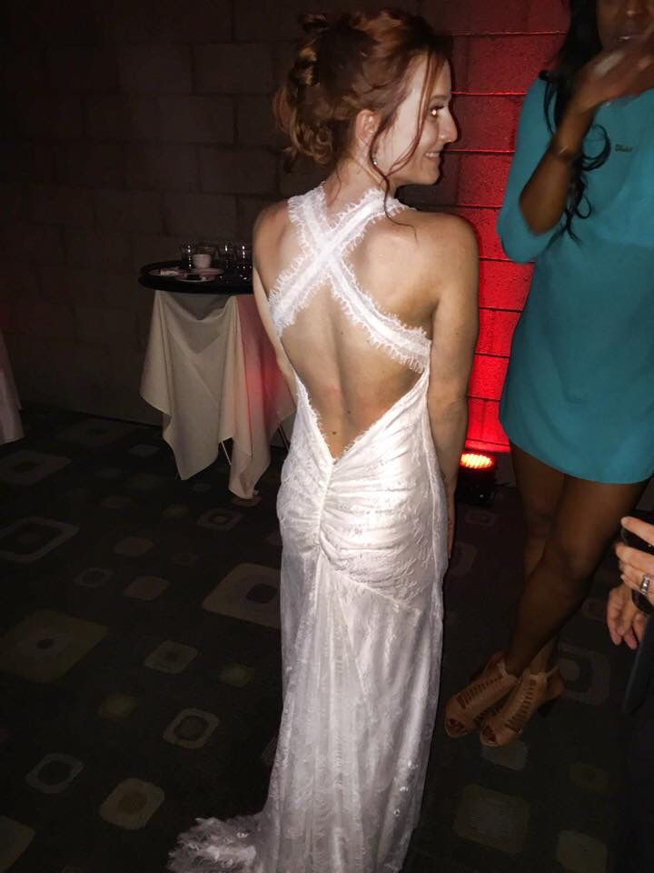 My white reception dress