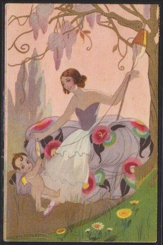 CHIOSTRI ART DECO Postcard1928 EBay Vintage Postcards