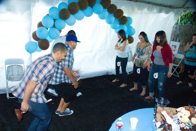 light blue  brown Monkey Baby Shower Party Ideas  Baby