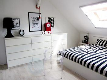 4 drawer malm dressers in a row  Dorchester Bedroom