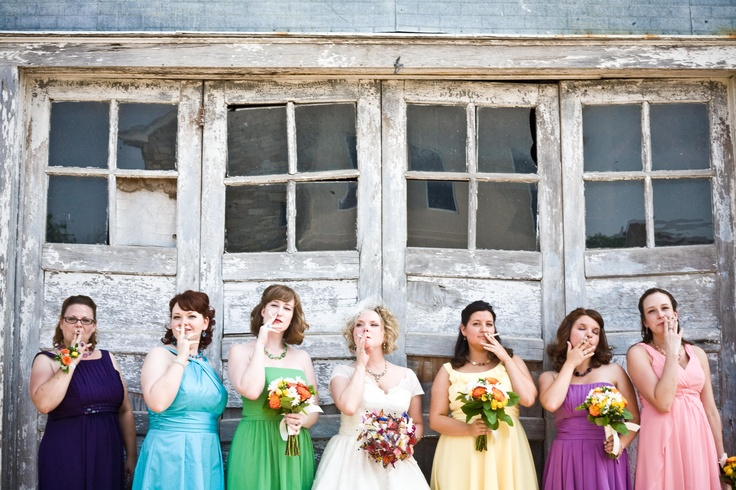 smoking bride cigarettes sassy bride vintage colorful bridesmaids wwwcarynnoelcom