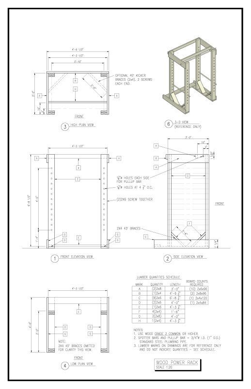 Diy Squat Rack Plans, How To Make A Wooden Pickaxe In