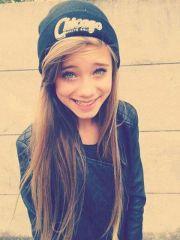blue eyes brown hair cute girl