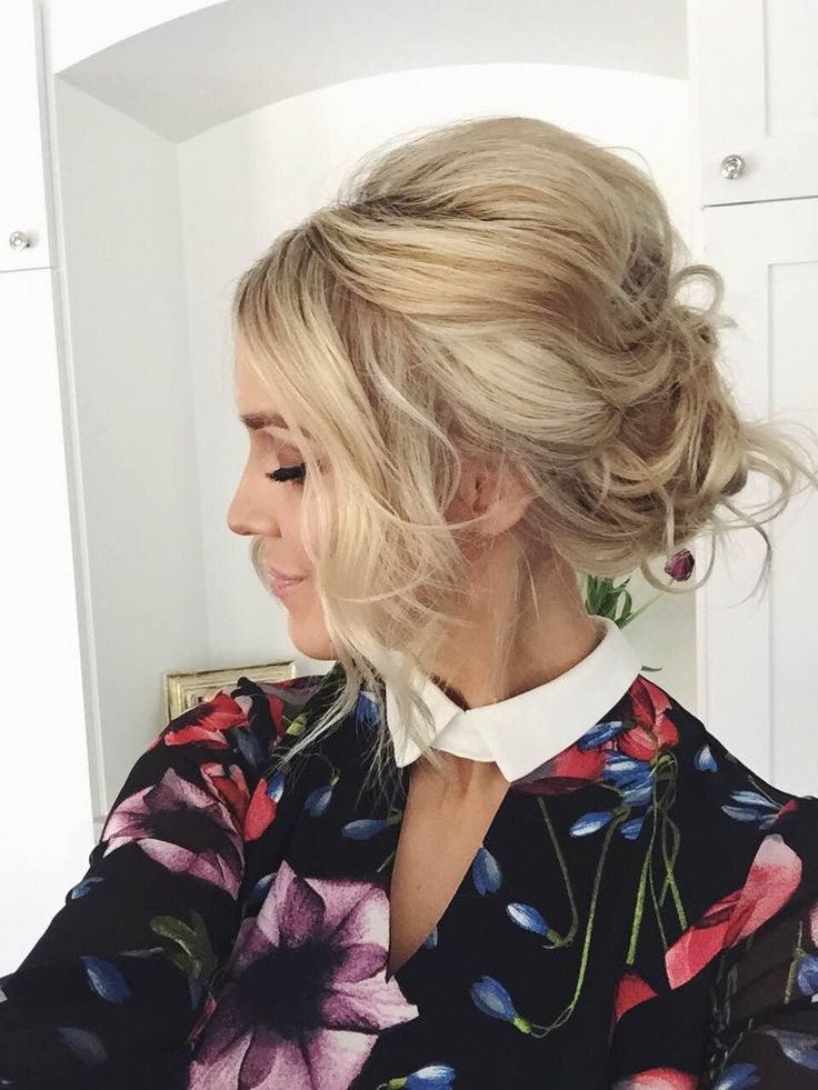 How To Messy Updo PromWedding Hair Pinterest