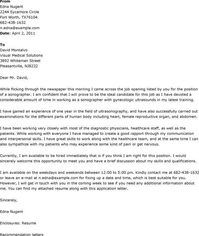 cover letter example new graduate