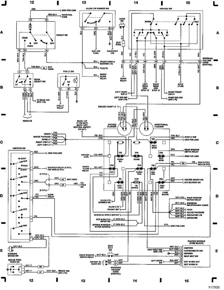 1989 jeep wrangler engine electrical diagram